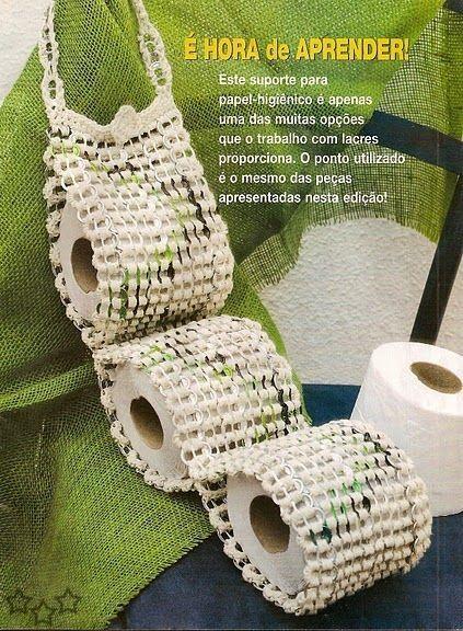 Portarollos de papel con anillas de latas de aluminio recicladas