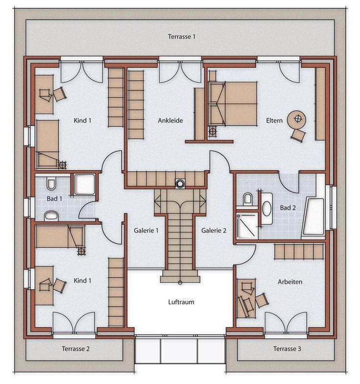 die besten 25 grundriss bungalow 150 qm ideen auf pinterest wohnungsgrundrisse. Black Bedroom Furniture Sets. Home Design Ideas