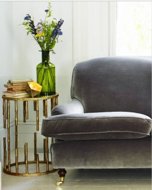 Gold Brass Bamboo Side Table Graham And Green