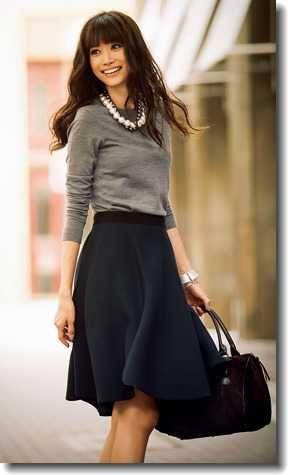 黒フレアスカートの冬コーデ!人気のプチプラファッションは?