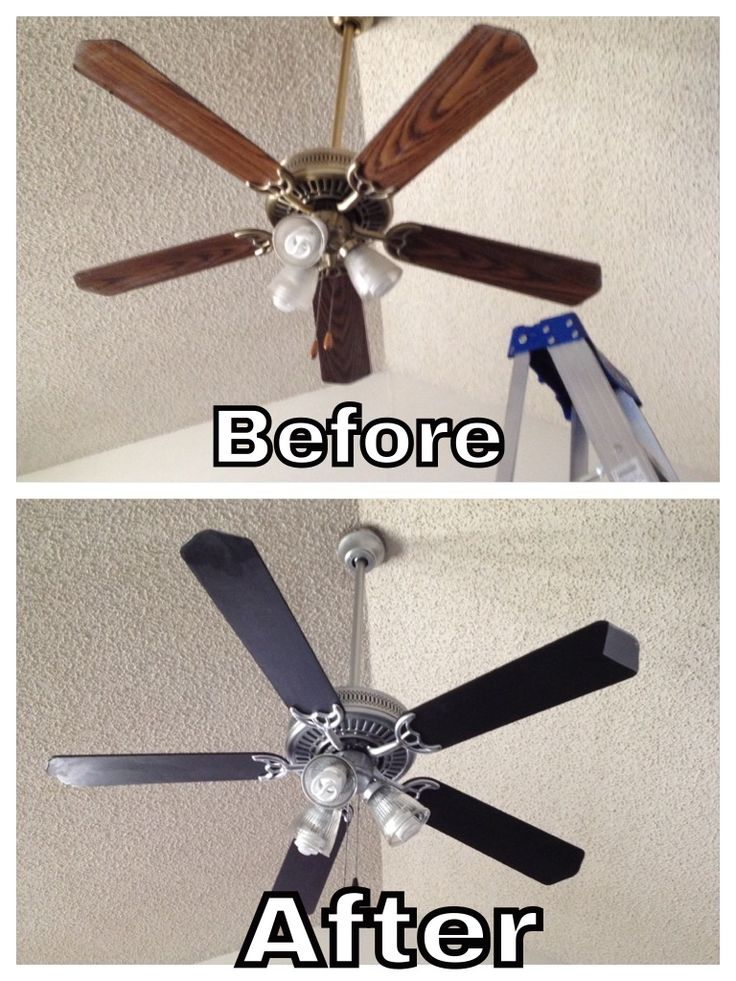 Another ceiling fan using rustoleum satin nickel