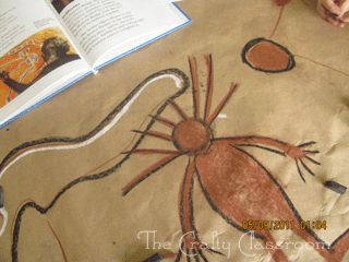 Aboriginal Cave Drawing-Cool to have kids make a HUGE one and display on a wall