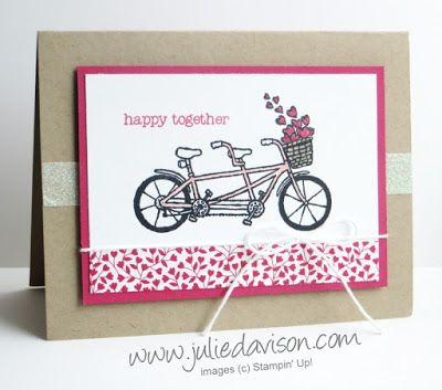Sale-a-bration Sneak Peek: Pedal Pusher Valentine's Day Card