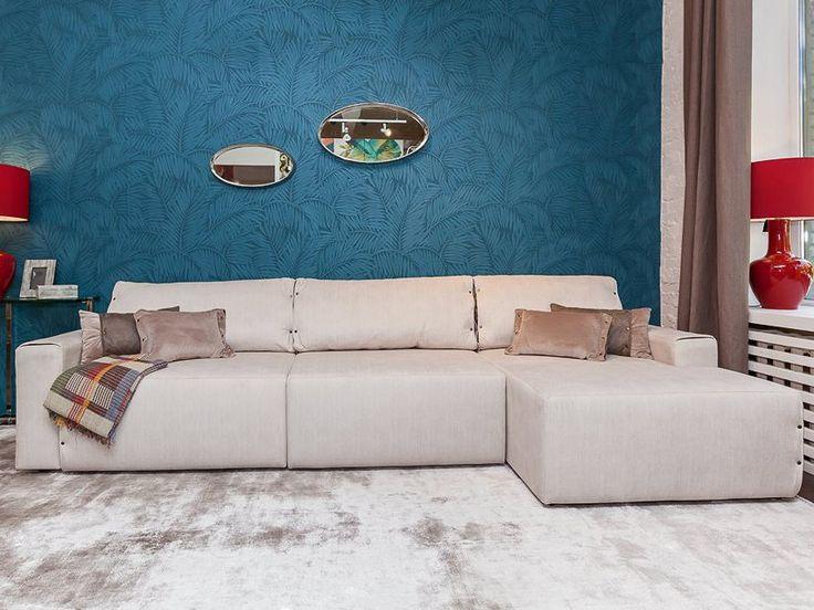Модульний кутовий диван Тіфані - зручний диван з кушеткою та м'якими підлокітниками
