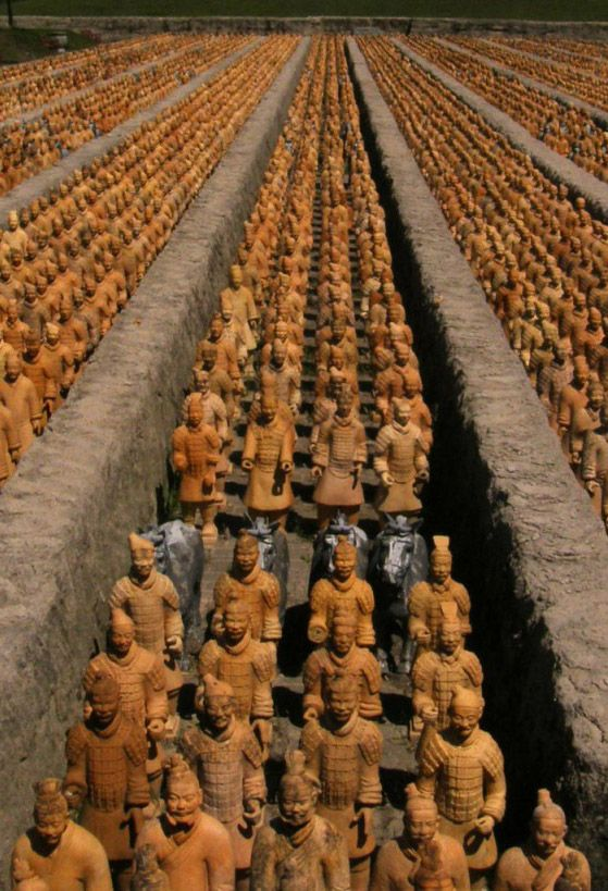 Utterly amazing ..Terracotta soldiers / saw a few ( complete with horses ) when on holiday , in of all places Malta - so amazing to view such amazing ancient figures = very memorable / and that was just a few !! Viewing them on mass in China must be awesome to behold !!! ✅