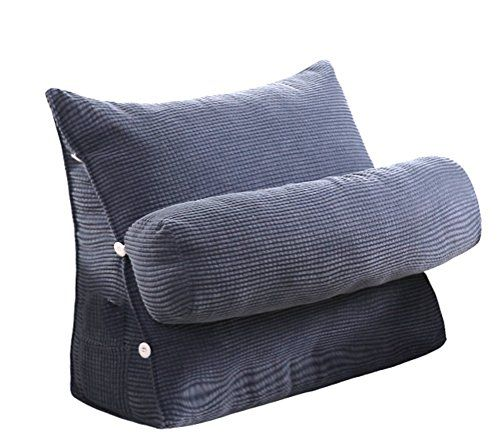 Adjustable Sofa Large Filled Triangular Wedge Cushion Couch Bed Office Chair  Backrest Pocket LivebyCare Positioning Support Pillow Reading Office Lumbar  Pad ...