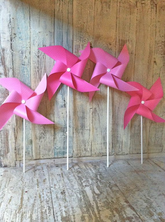 Pinwheels  Pinkalicious  Party Pinwheels by HalosHaven on Etsy, $22.00