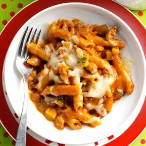 Penne Beef Bake Recipe from Taste of Home -- shared by Jennifer Wise of Selinsgrove, Pennsylvania