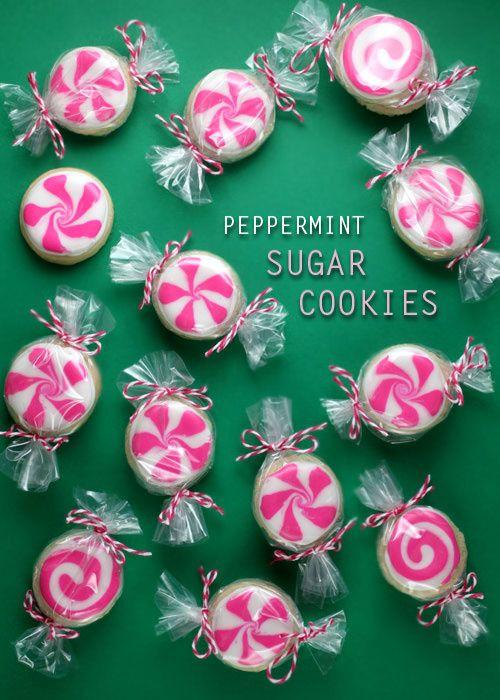 Peppermint Sugar Cookies
