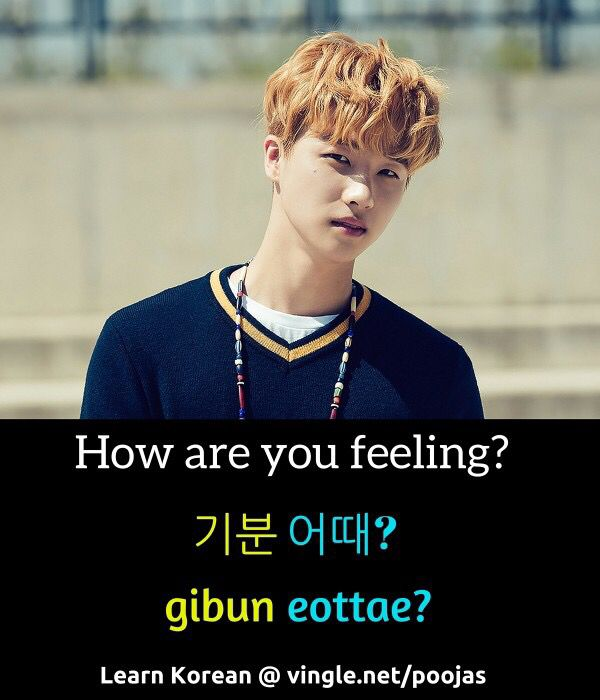 """How are you feeling"" in Korean. Gibun Eottae?"