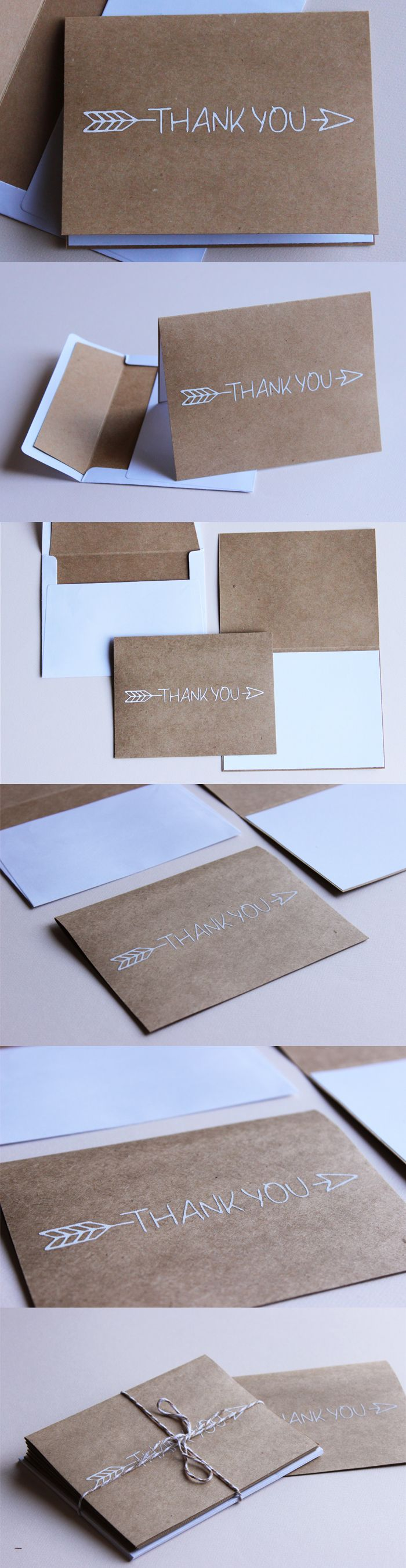 Thank You Arrow. Typographic Cards.