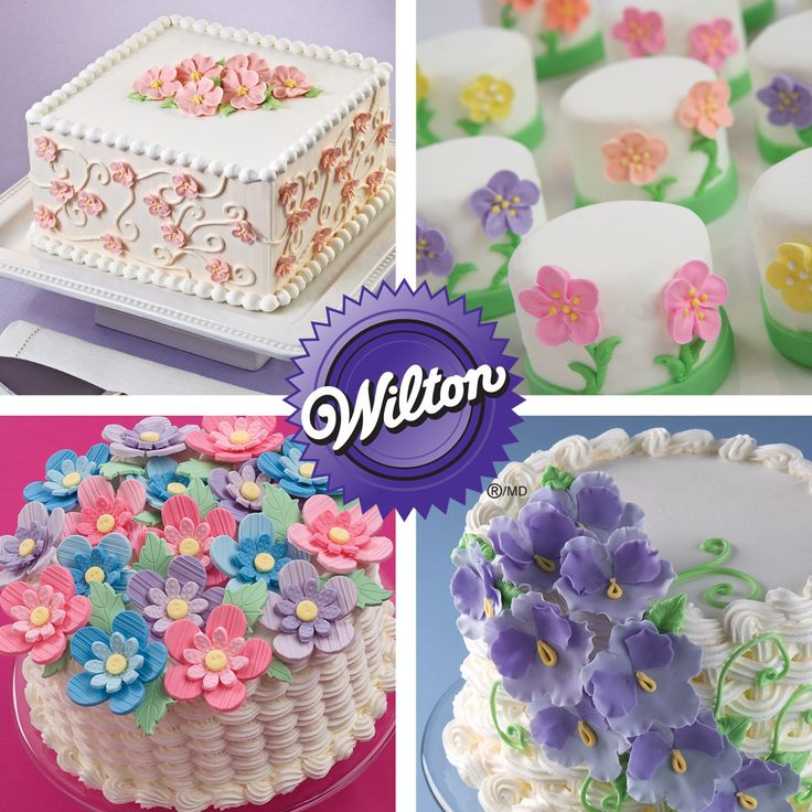 8 best Wilton Course 2 Flowers and Cake Design images on