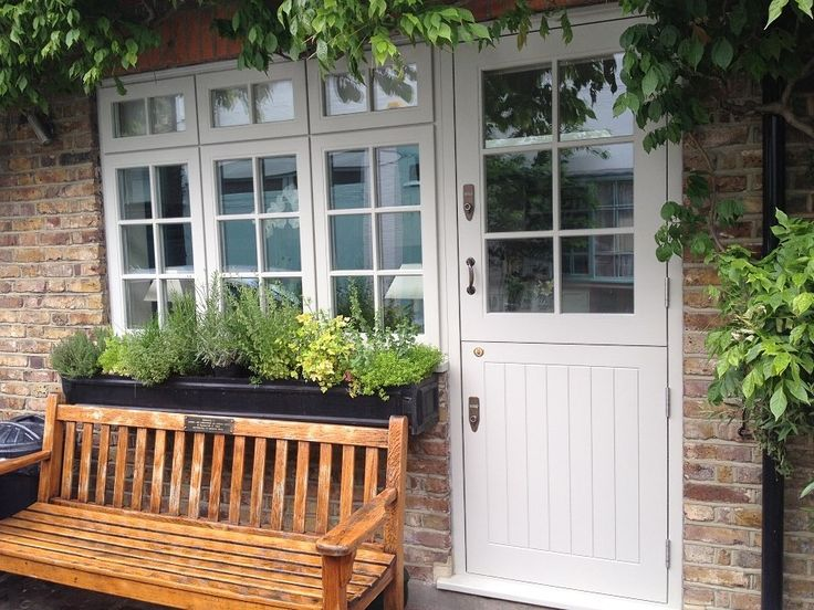 Traditional timber windows.