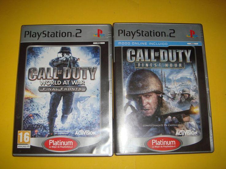 Lote de juegos CALL OF DUTY playstation 2- 2 juegos Finest hour y world of war