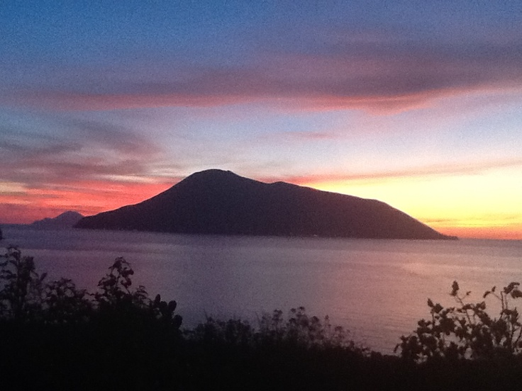 Sunset in Acquacalda with Salina and Filicudi in the background...speechless Island of Lipari (Aeolian Islands) Sicily