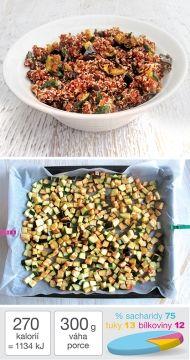 Červená quinoa s pečenou zeleninou