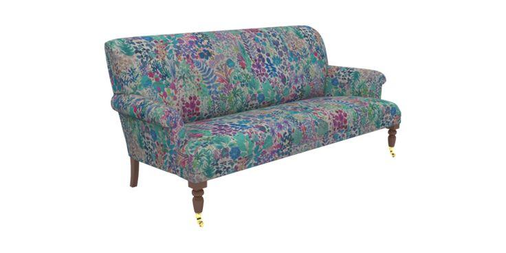 Multicoloured Large 3 Seater Sofa Liberty Fresco Lagoon | Midhurst