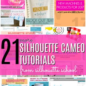 A whole bunch of awesome Silhouette blog tutorials from Silhouette School! Silhouette CAMEO tutorials, free design downloads, reviews, and more from September 2017!