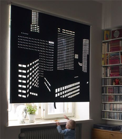 Our friends at Just Cool:adventures in design posted this on their site and we had to share it with our readers. The custom blinds can feature your favorite city. From Designer Elina Aalto for Fias...