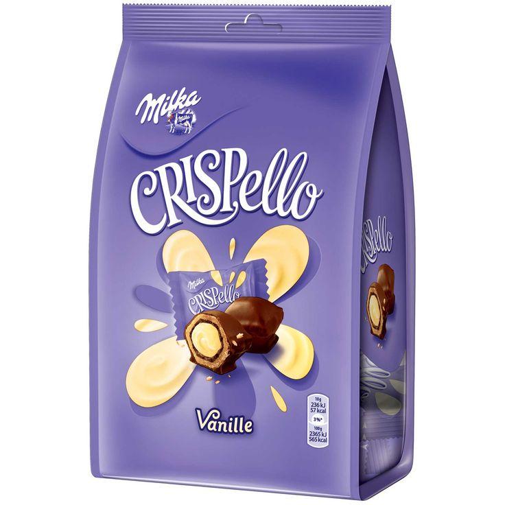 -in USA- Milka Crispello Chocolate - VANILLA - 140 g