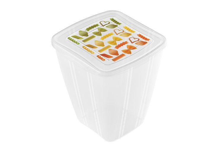 Fresh Container quadr. 2,0 L. Set di due contenitori pratici e capienti per conservare pasta e riso. #pasta #rice #box