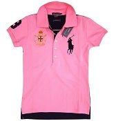 rose chemises polo ralph lauren femme  pas cher