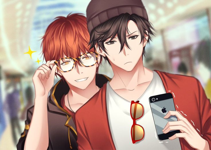 Lucial and Jumin || and Jumin still somehow looks rich af...