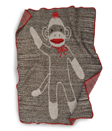 This fun Sock Monkey Throw ($44.98) made of recycled fiber remnants.