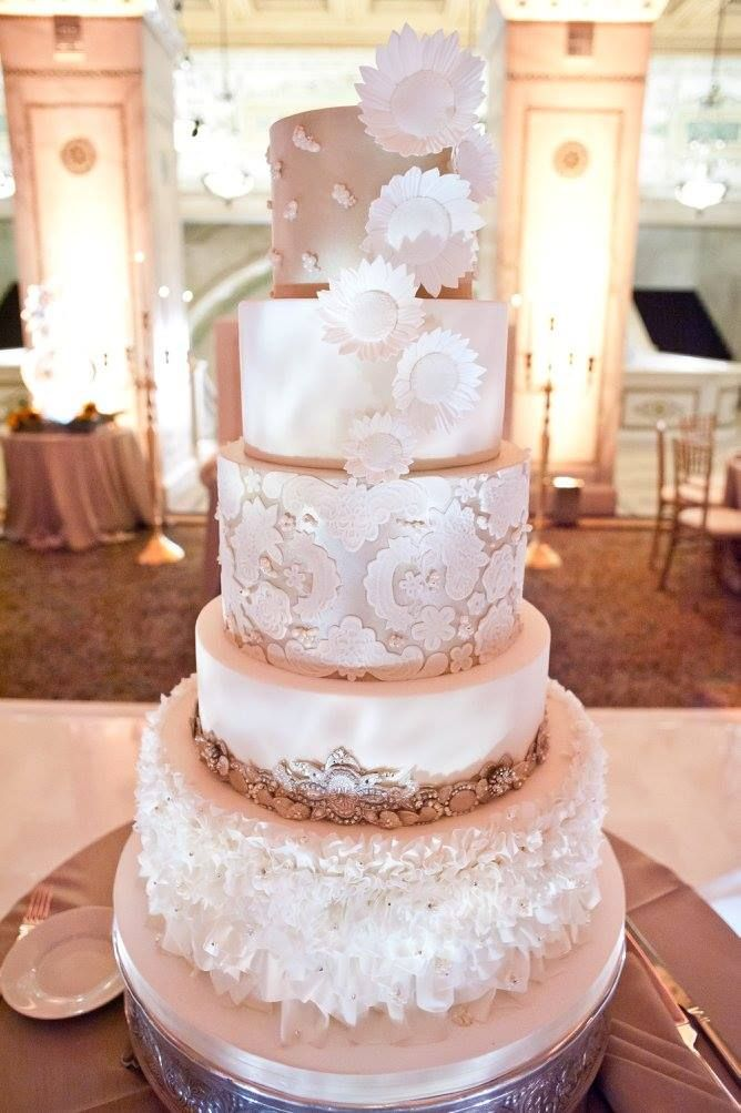 wedding cake wedding cakes pinterest chicago 5 tier wedding