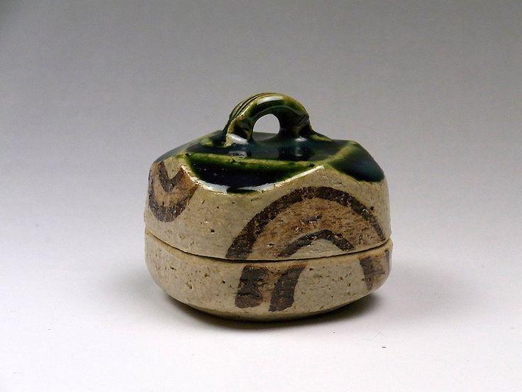 Tetsuzan Matsumoto Oribe Kogo Incense Box