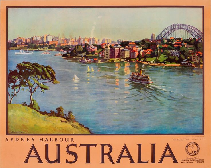 "Australia - Sydney by Sir John William ""Will"" Ashton (1881-1963)"