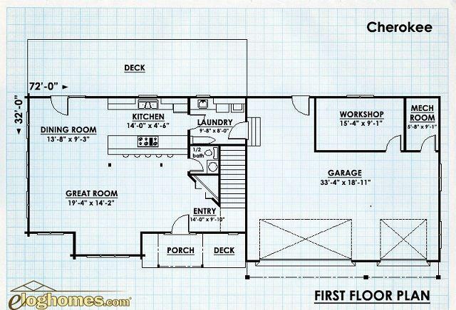 Log Home Design Plan And Kits The Cherokee Log Home Designs Home Design Plan Log Homes
