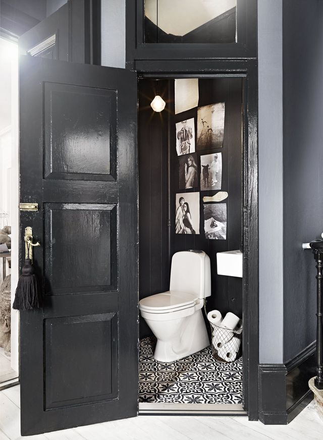 les 25 meilleures id es de la cat gorie wc noir sur pinterest r nover ses toilettes. Black Bedroom Furniture Sets. Home Design Ideas