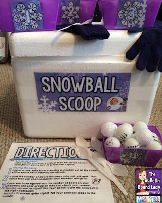Mrs. King's Music Room: Music Workstations: Snowball Scoop- LOVE LOVE LOVE this idea!  A styrofoam cooler and ping pong balls is transformed into an engaging rhythm workstation.  This could translate into many subject areas too!