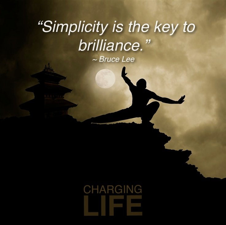 Bruce Lee Moon Quote: Bruce Lee Simplicity
