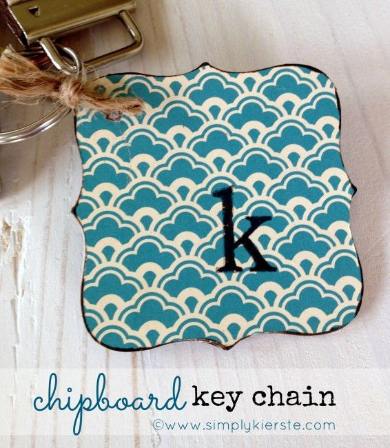 Chipboard Key Chain! Super cute, and features a photo on the back. Personalize for anyone--makes a great gift!  {simplykierste.com}