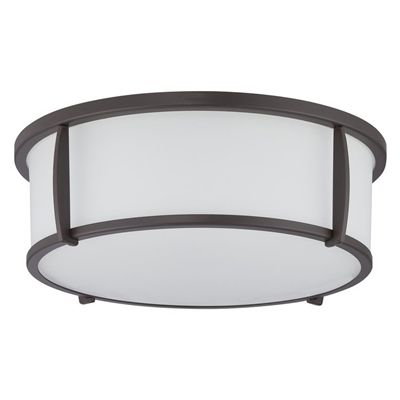 allen + roth 12.91-in W Oil-Rubbed Bronze Ceiling Flush Mount