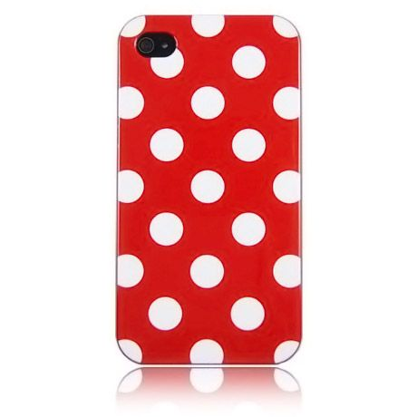Capa de celular: Iphone Cases, Hm Red, Iphone 4S, Dots Flex, Polka Dots, Flex Gel, Cell Phones Accessories, Gel Cases, Red Polka