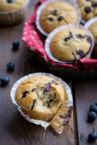 Muffins aux myrtilles   Vegan   Jujube en cuisine