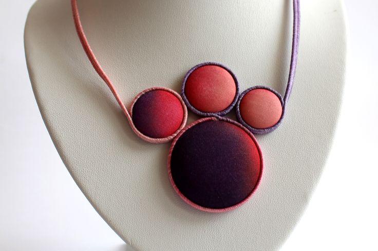 Hand dyed silk jewelry by Koria Design www.facebook.com/koriadesign