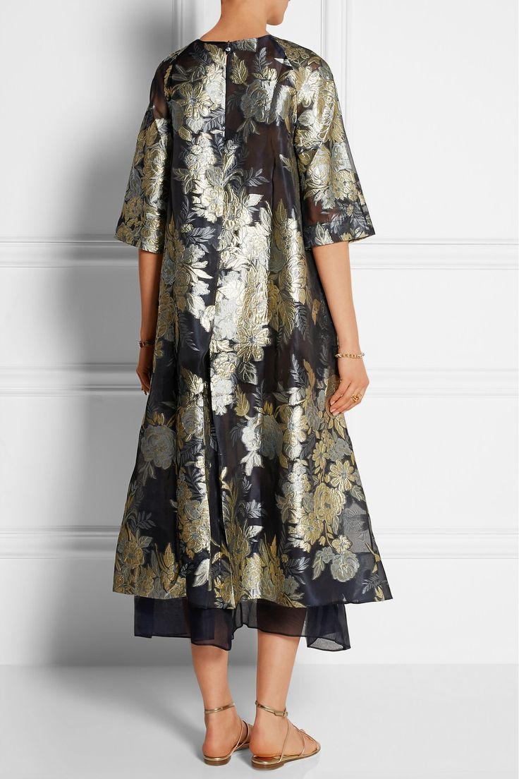 Biyan Adine oversized embroidered organza dress