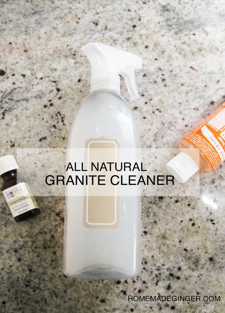 All Natural Diy Granite Cleaner Recipe Homemade