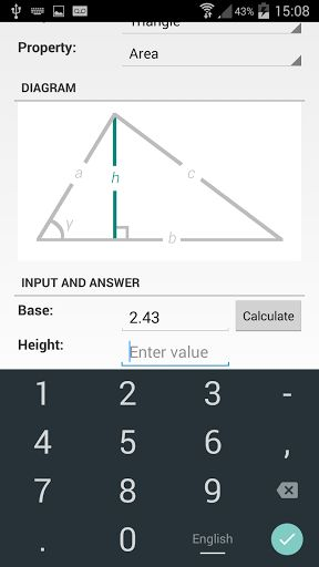 Shape Calculator v1.7   Shape Calculator v1.7Requirements:4.0 and upOverview:Use the Shape Calculator to work out properties of different shapes!  Use the Shape Calculator to work out properties of different shapes!  Currently the supported shapes are: - 2D Shapes: - Circles - Triangles - Squares - Rectangles - Pentagons - Hexagons - Heptagons - Octagons - Nonagons - Decagons - 3D Shapes: - Spheres - Cones - Cylinders - Cubes ...and there are many many more coming soon!  What's New  - Major…