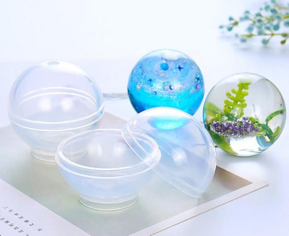 Silicone Round Ball Sphere Mold Clear Jewelry Mould DIY Resin Casting Crafts