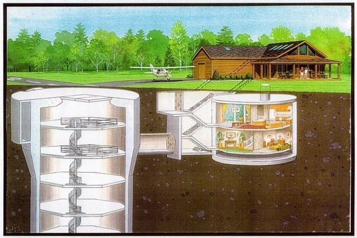Home with converted missile silo below.