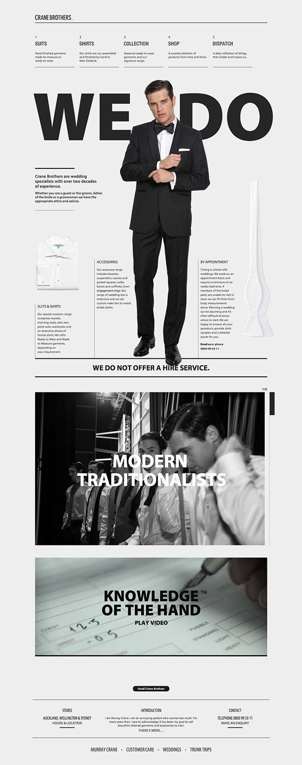 Crane-Brothers - Web Design  http://crane-brothers.com/wedding-suits