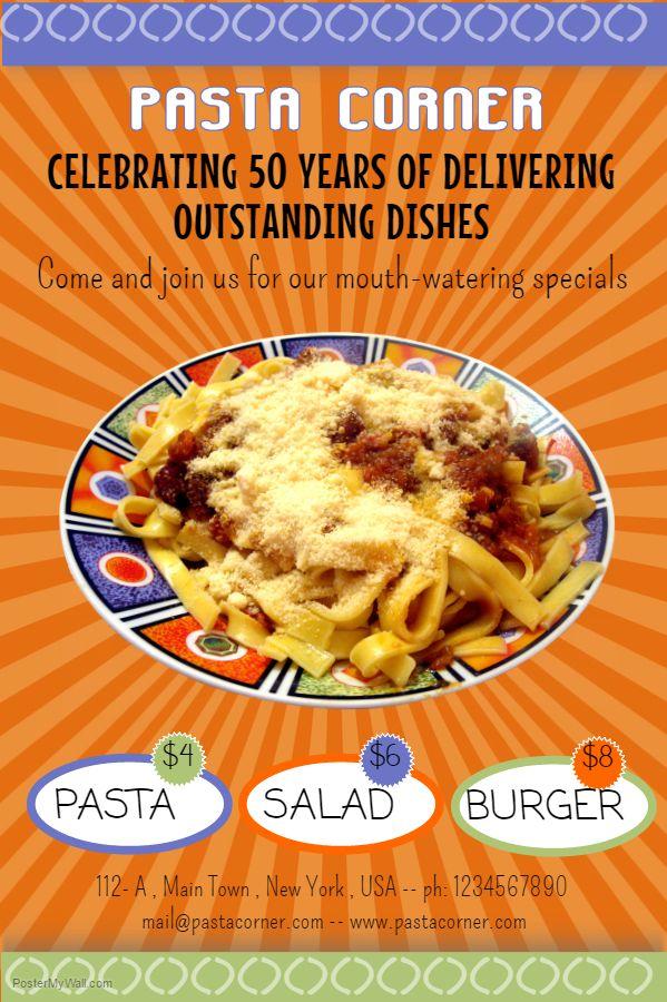 57 best Restaurant Poster Templates images on Pinterest Online - food flyer template