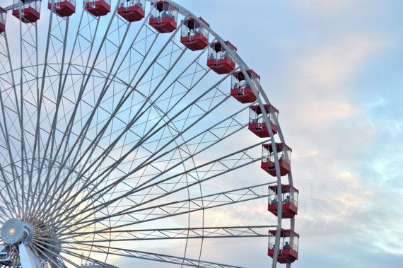 Chicago Photography  Ferris Wheel  Navy Pier by HotSausDesign