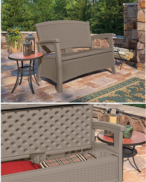 ... Suncast ELEMENTS™ Outdoor Furniture Collection. From The Decorative  Wicker Pattern To The Convenient Hidden Storage, Thereu0027s Lots To Love About