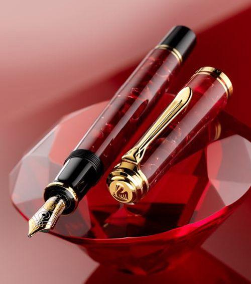 перьевая ручка Pelikan M600 Ruby Red